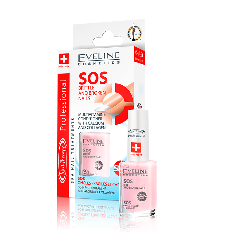 Nail Therapy SOS BRITTLE AND BROKEN NAILS | Eveline Cosmetics