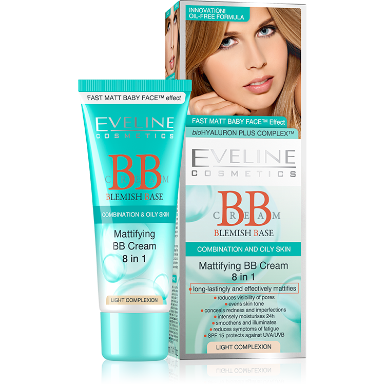 Mattifying BB Cream 8in1 - LIGHT COMPLEXION